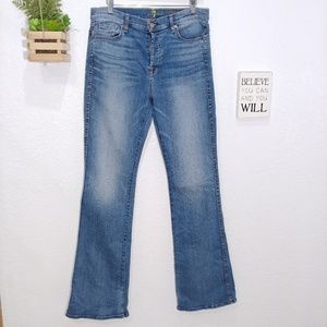 7 for all mankind high waist vintage bootcut jean